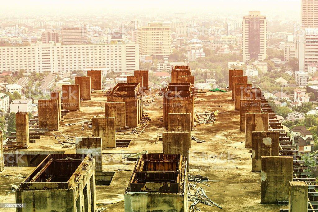 building awaiting renovation stock photo
