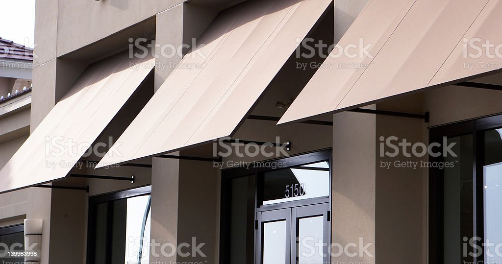 Building Awning royalty-free stock photo
