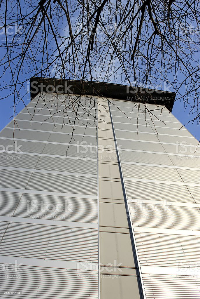 Building behind twigs royalty-free stock photo