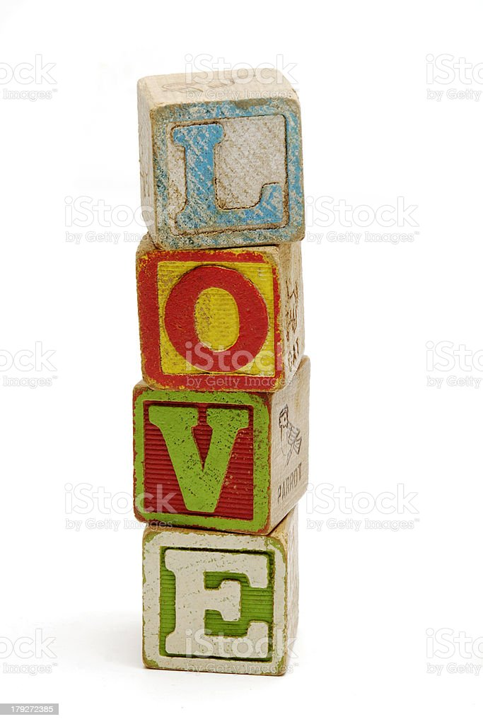 Building Block Love royalty-free stock photo