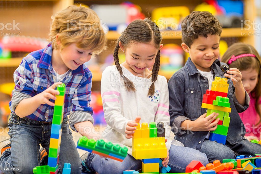 Building Block Towers stock photo