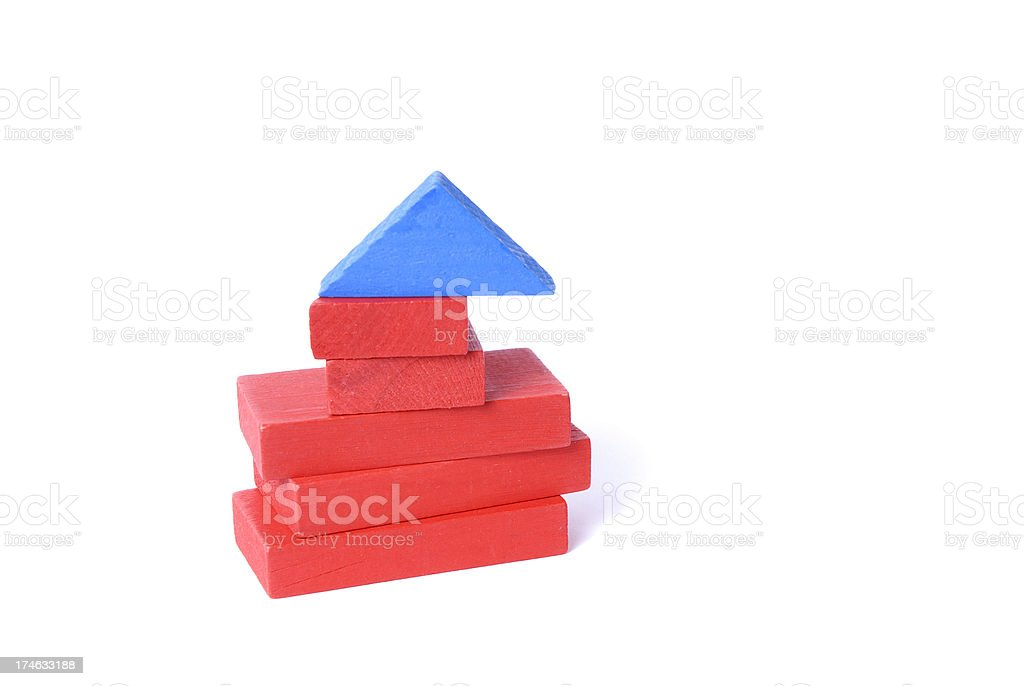 Building Block Unstable Structure royalty-free stock photo