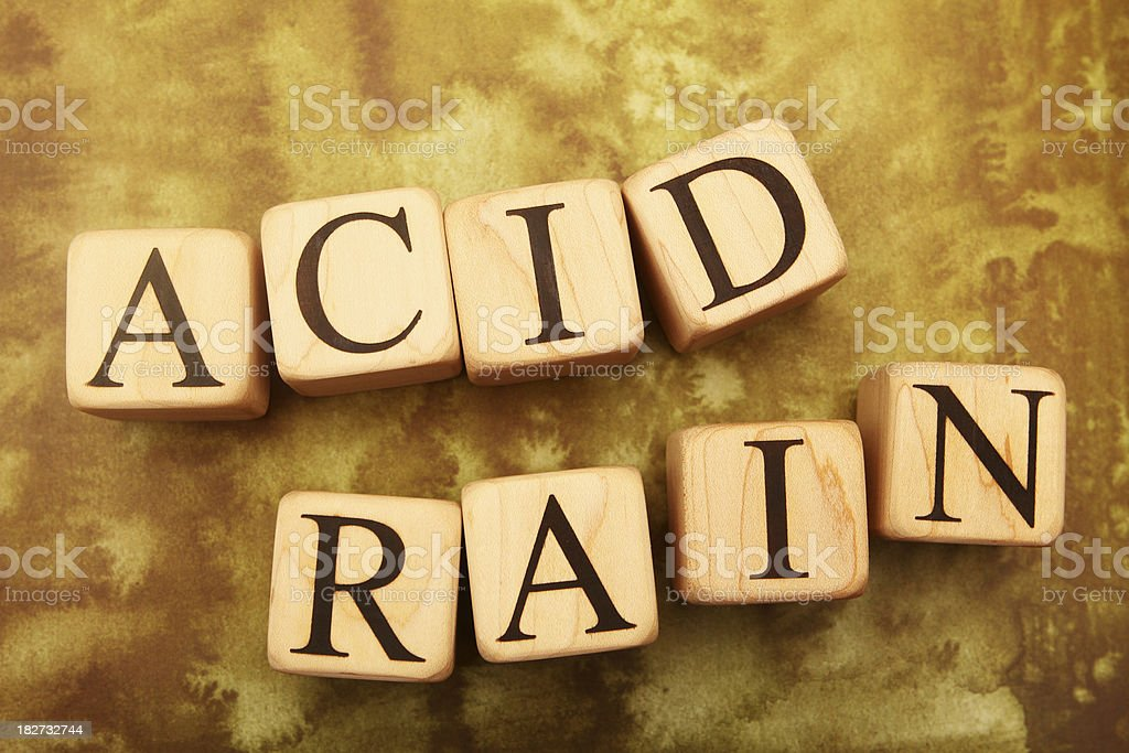 Building Blocks - Acid Rain royalty-free stock photo