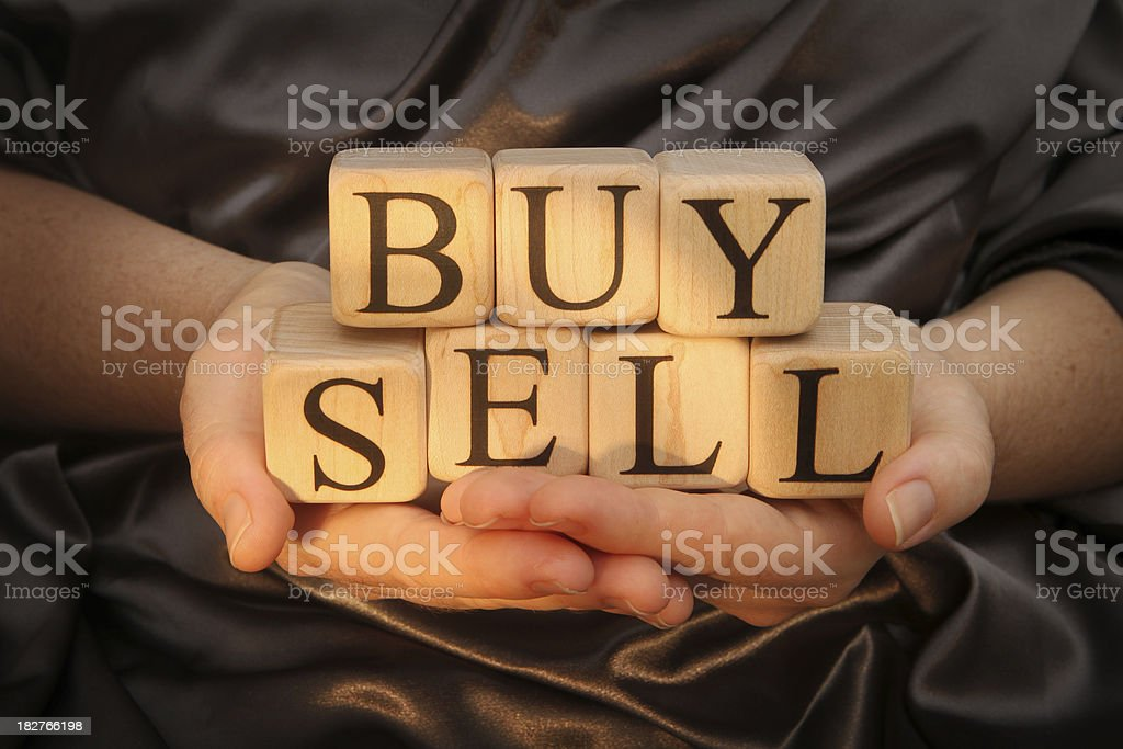 Building Blocks buy and sell royalty-free stock photo