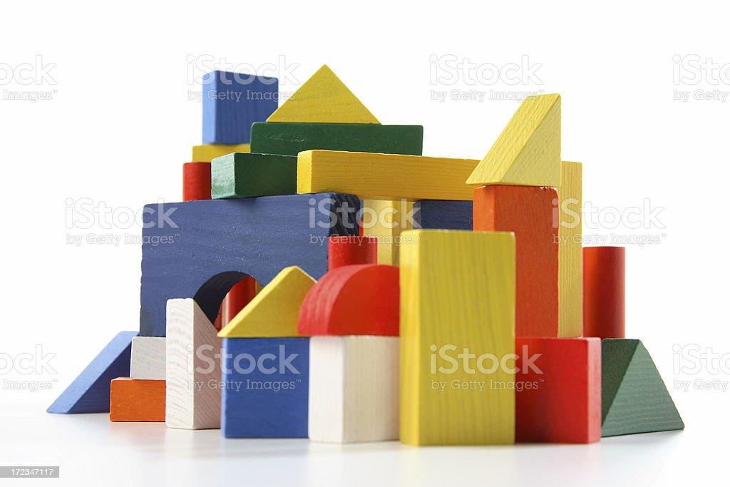 Building Blocks City royalty-free stock photo