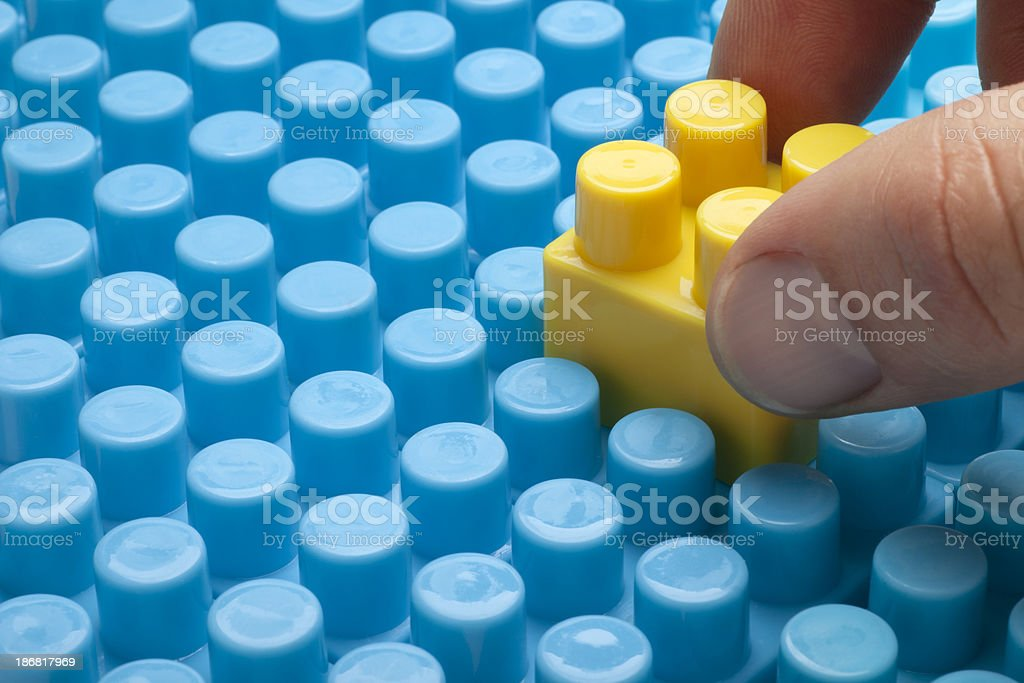 Building Blocks Connecting Together stock photo