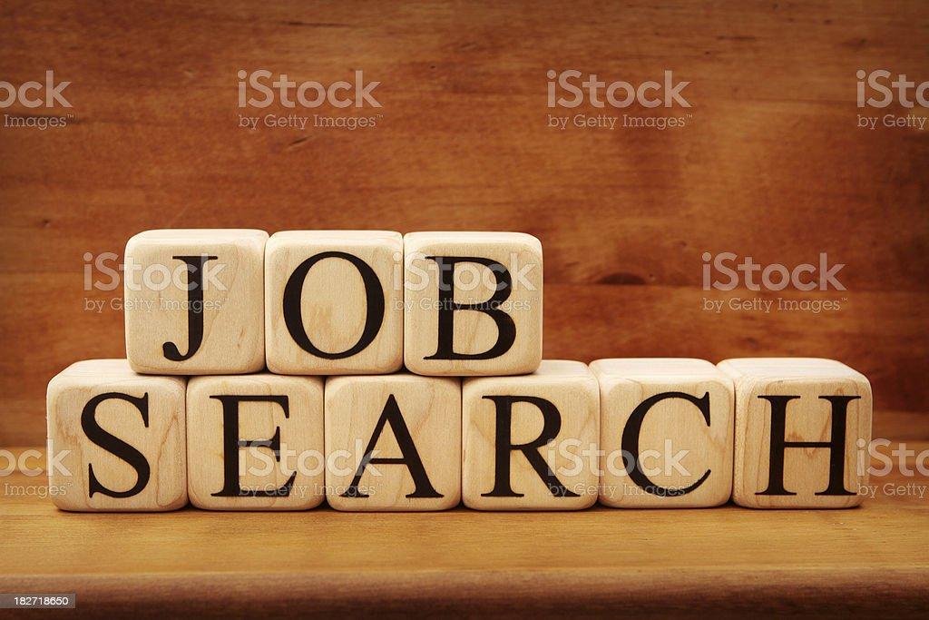 Building Blocks - Job Search royalty-free stock photo