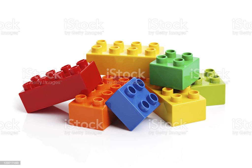 Building blocks on a white background royalty-free stock photo