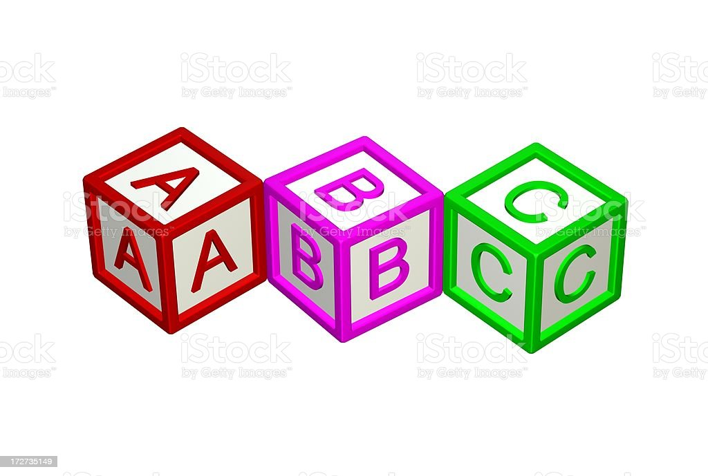 ABC Building Blocks royalty-free stock photo