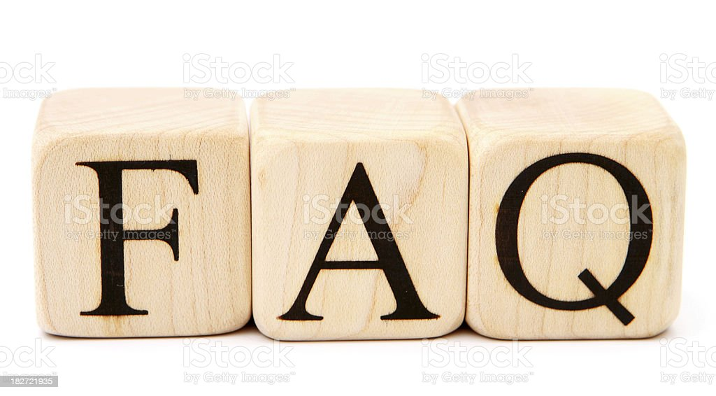 FAQ - Building Blocks royalty-free stock photo