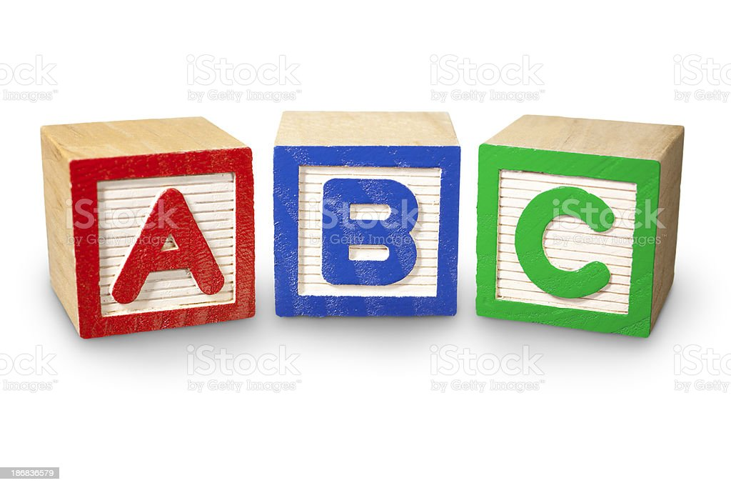 ABC Building Blocks stock photo