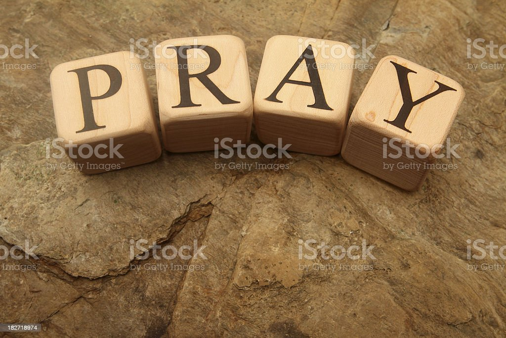 Building Blocks - pray royalty-free stock photo