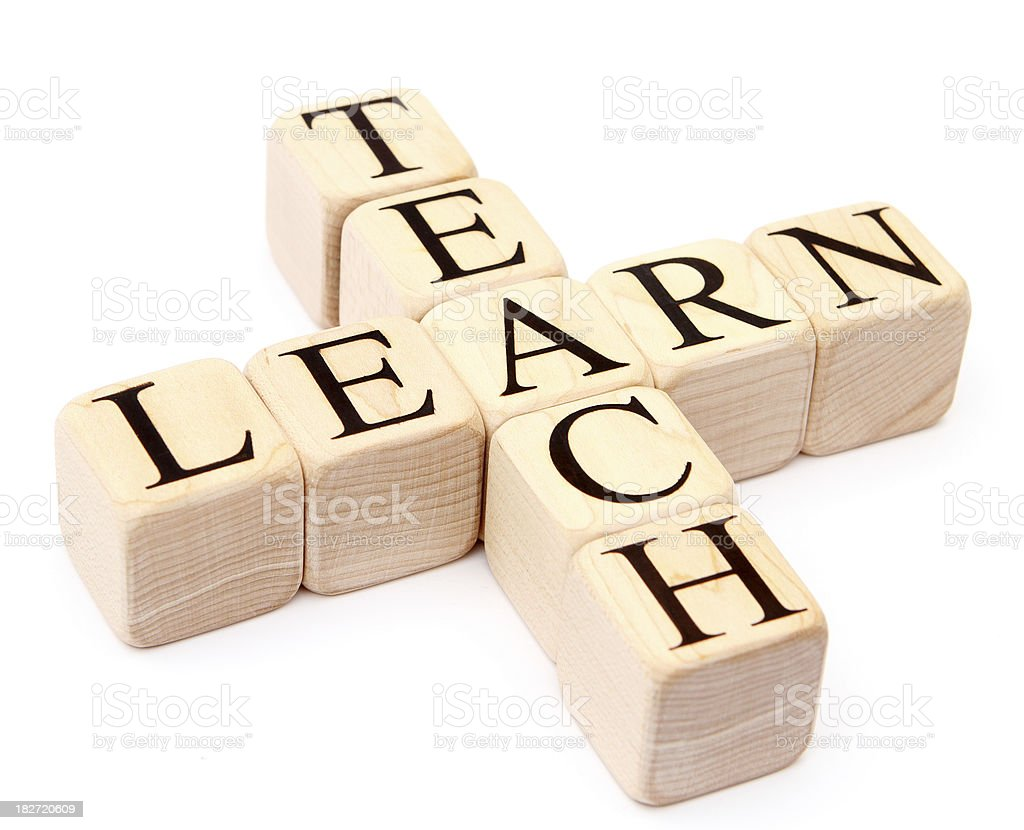 Building Blocks - teach and learn royalty-free stock photo