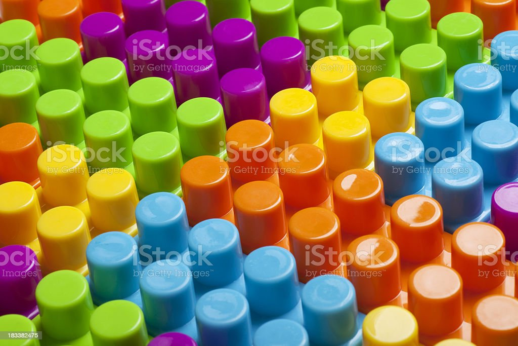 Building Blocks Together royalty-free stock photo