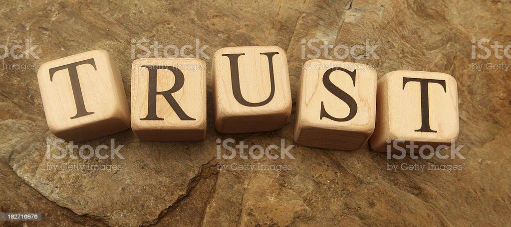 Building Blocks - Trust royalty-free stock photo