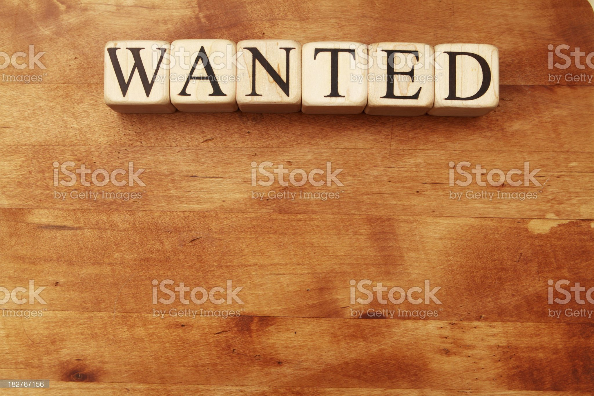 Building Blocks - Wanted royalty-free stock photo
