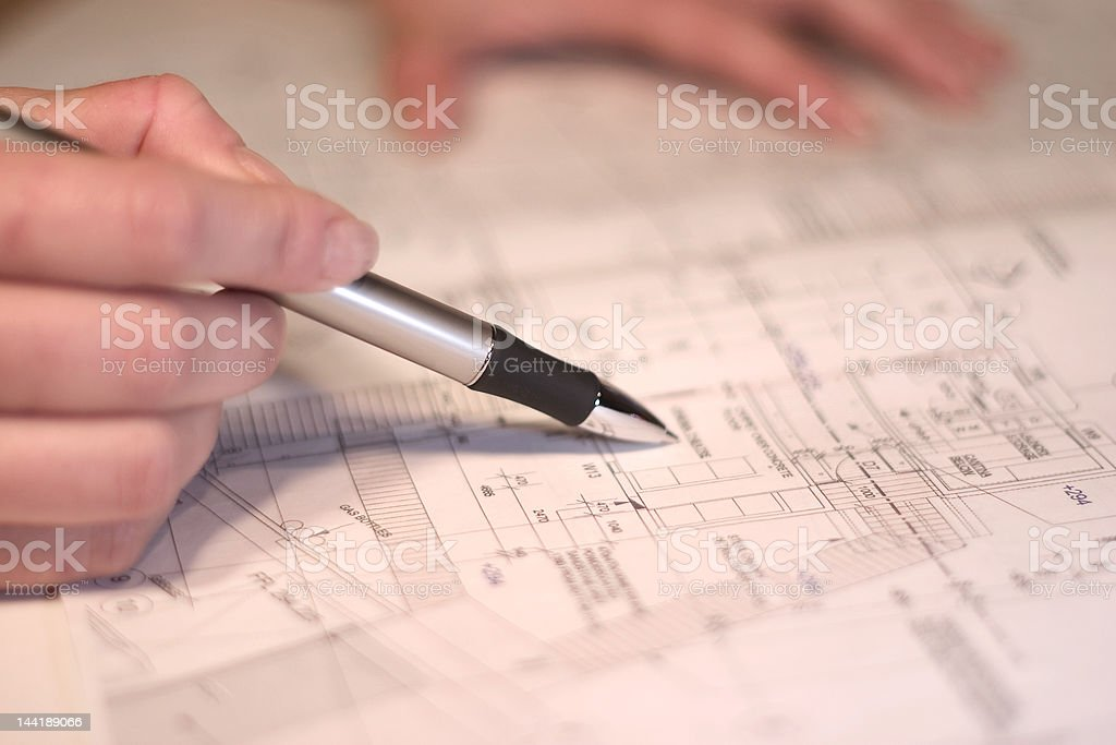 building blueprint royalty-free stock photo