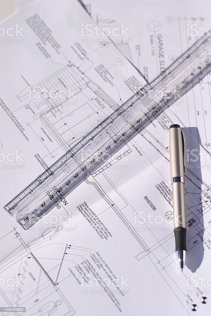 building blueprint stock photo
