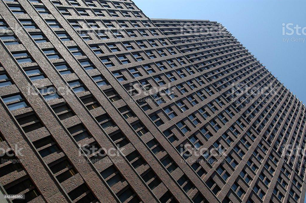 building brick facade stock photo