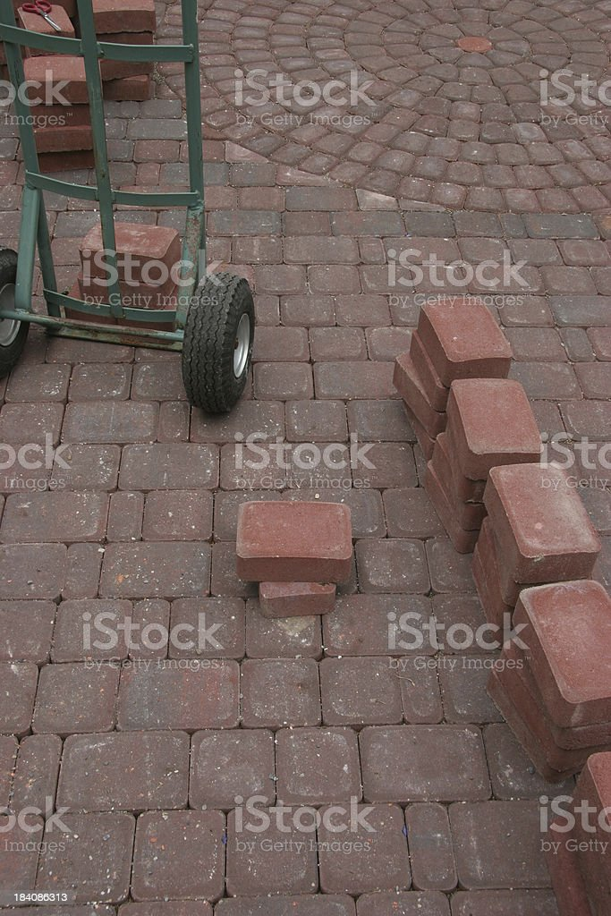 Building Bricks For The Patio royalty-free stock photo