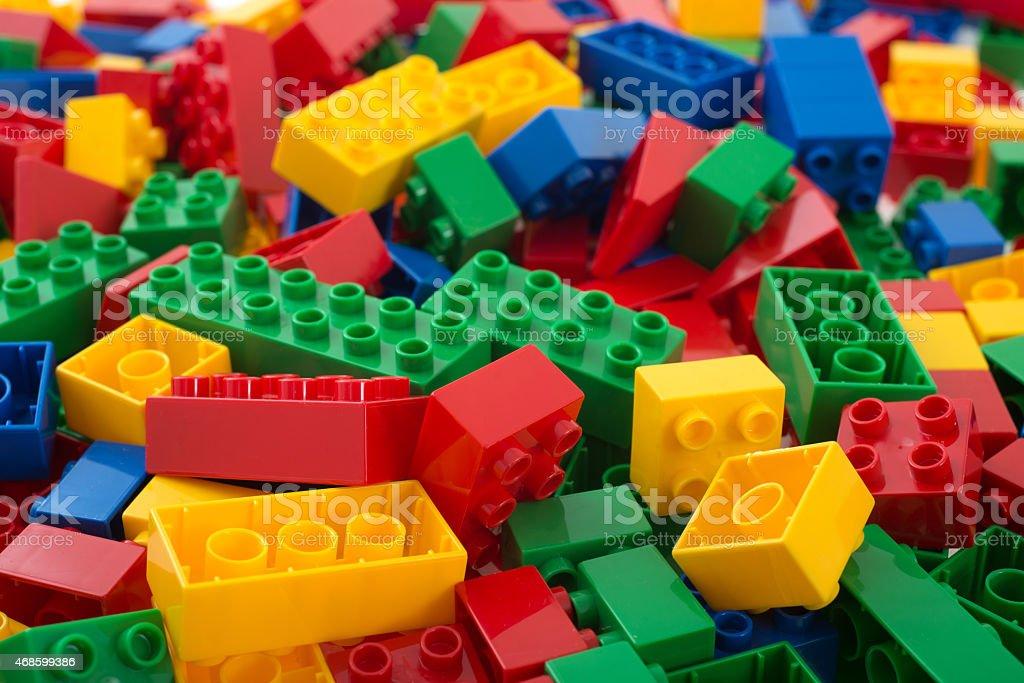 building bricks heap stock photo