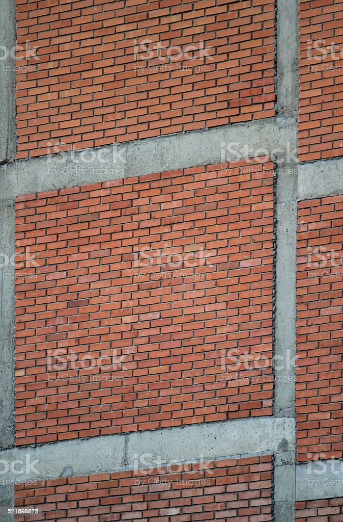 Building brickwork. stock photo