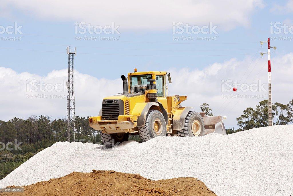 Building bulldozer royalty-free stock photo