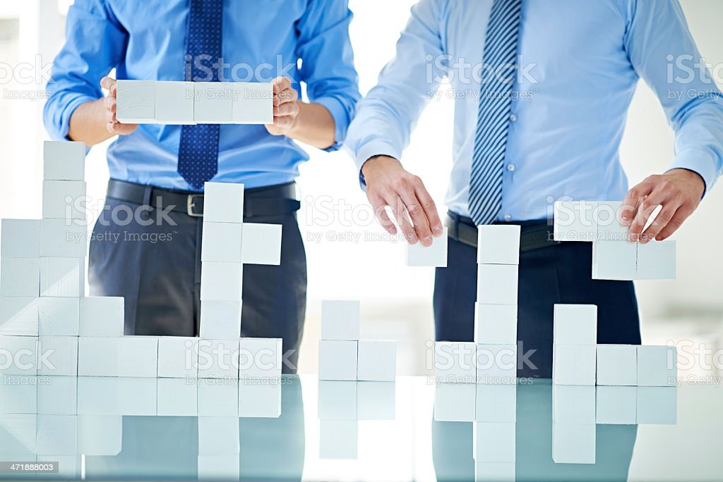 Building business together royalty-free stock photo