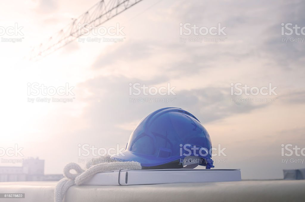 building cap at the site stock photo