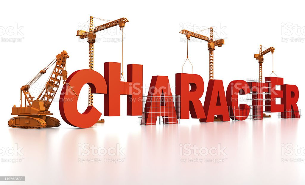 Building Character stock photo