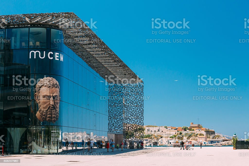 MUCEM building, civilizations museum of Europe and the Mediterra stock photo