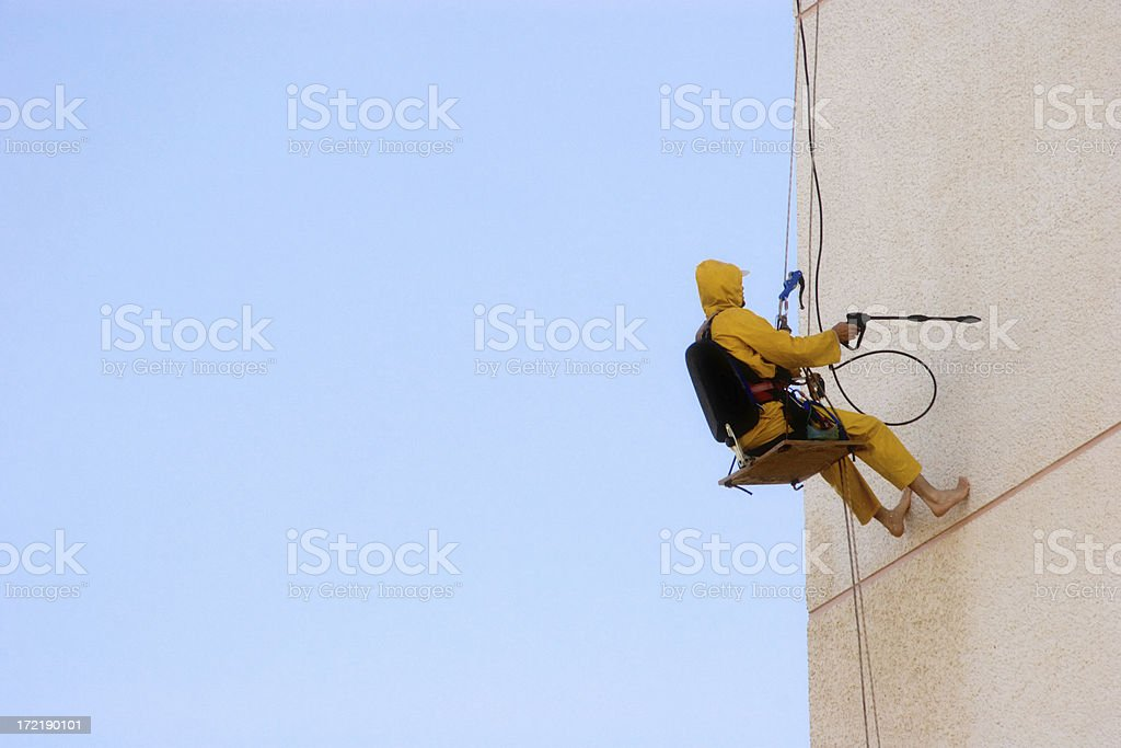 Building Cleaner stock photo