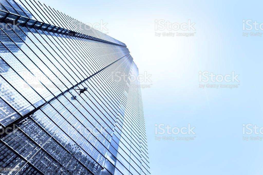 Building Climber royalty-free stock photo