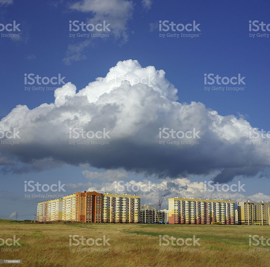 Building cloud royalty-free stock photo