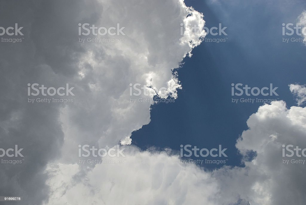 Building clouds royalty-free stock photo