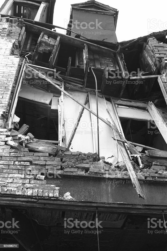 Building Collapse stock photo