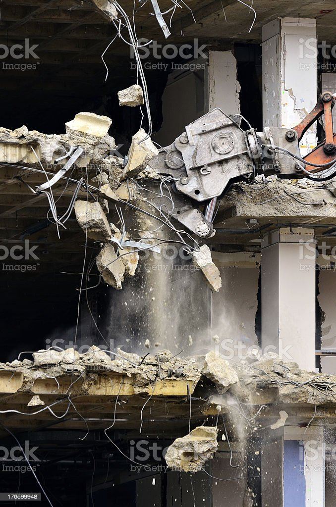 Building Collapsing or Falling Down royalty-free stock photo