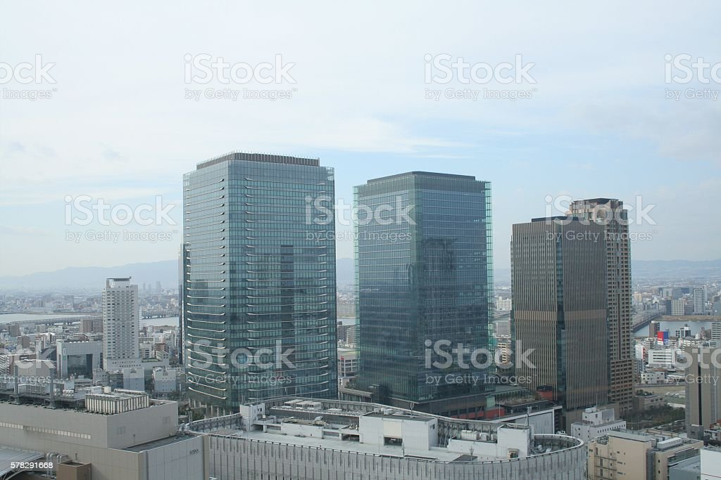 Building completed and blue sky Part 5 stock photo