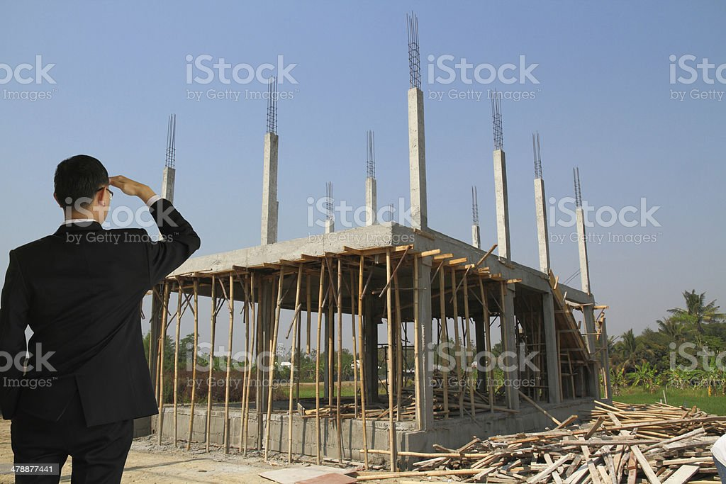 Building construct site stock photo