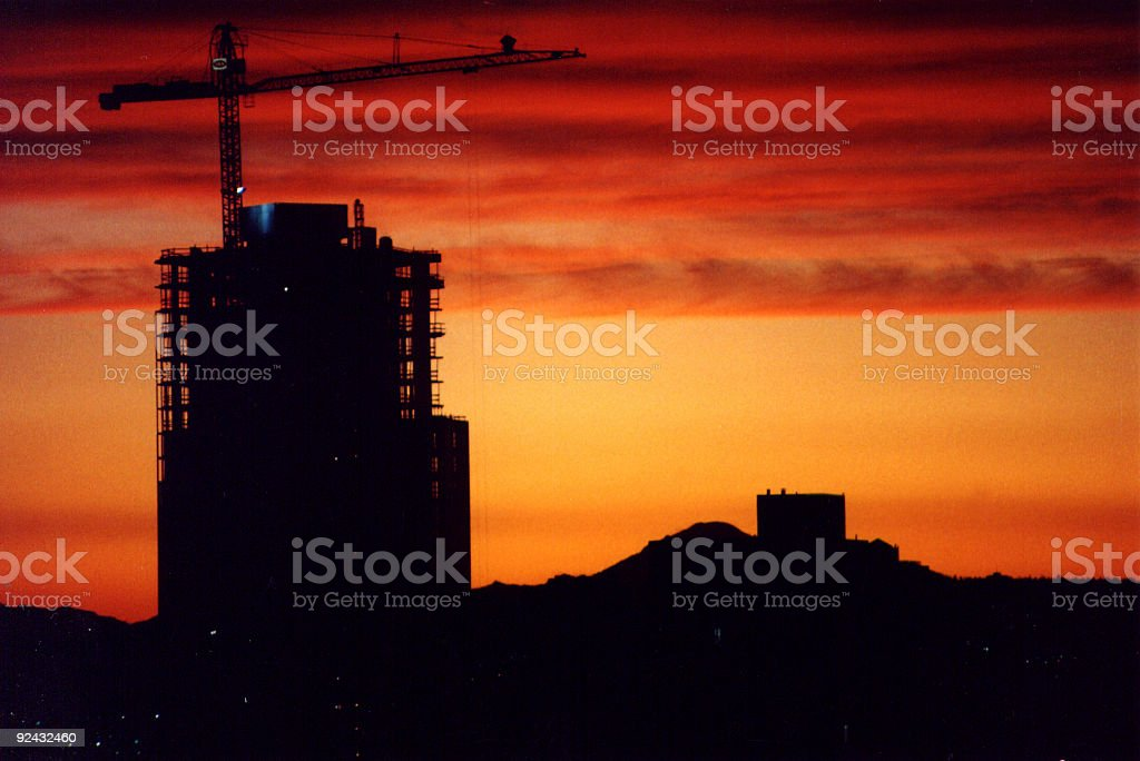 Building Construction at Sunset 2 royalty-free stock photo