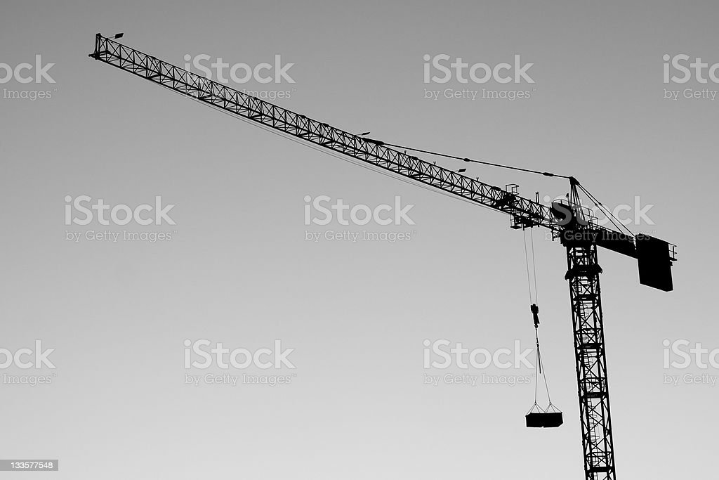 Building Construction, Cranes Activity and Real Estate Image royalty-free stock photo