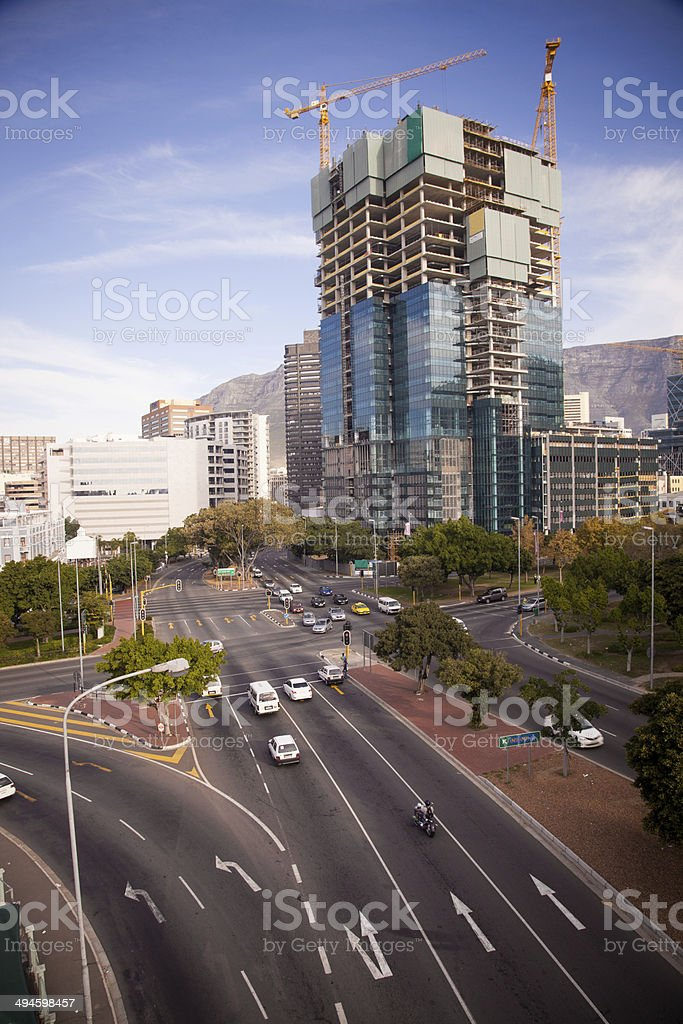 Building Construction in Cape Town City, South Africa royalty-free stock photo