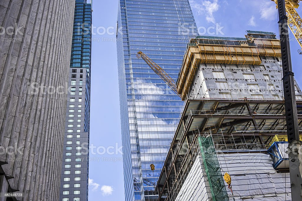 Building construction in Toronto royalty-free stock photo