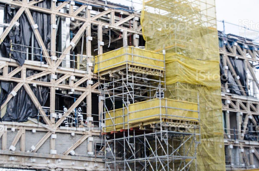 Building construction stock photo