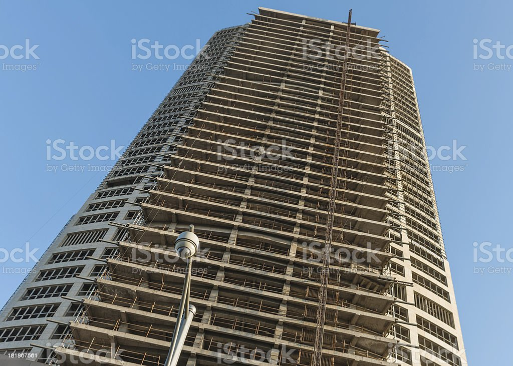 Building construction Surveillance royalty-free stock photo