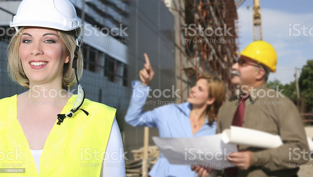 building construction team royalty-free stock photo