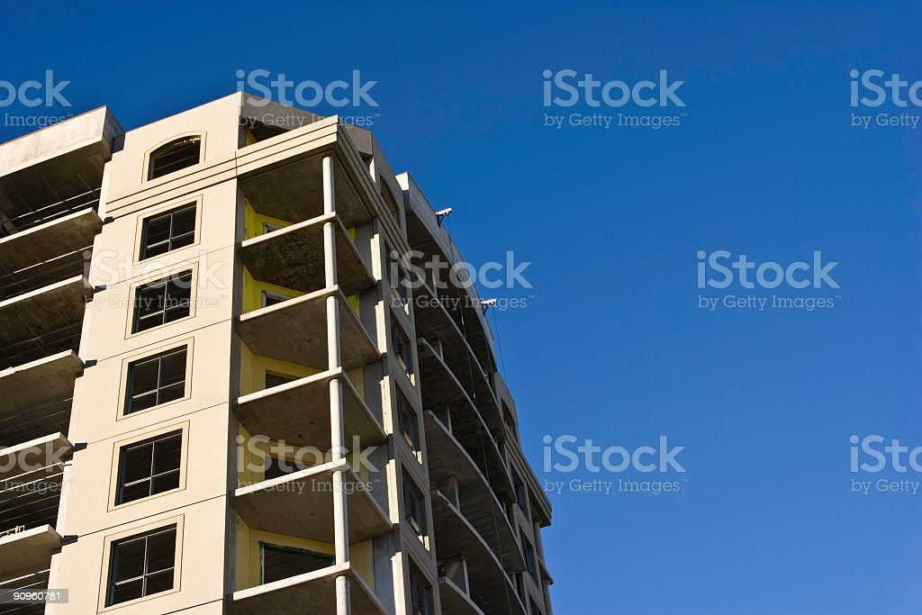 Building Construction with Copy Space royalty-free stock photo