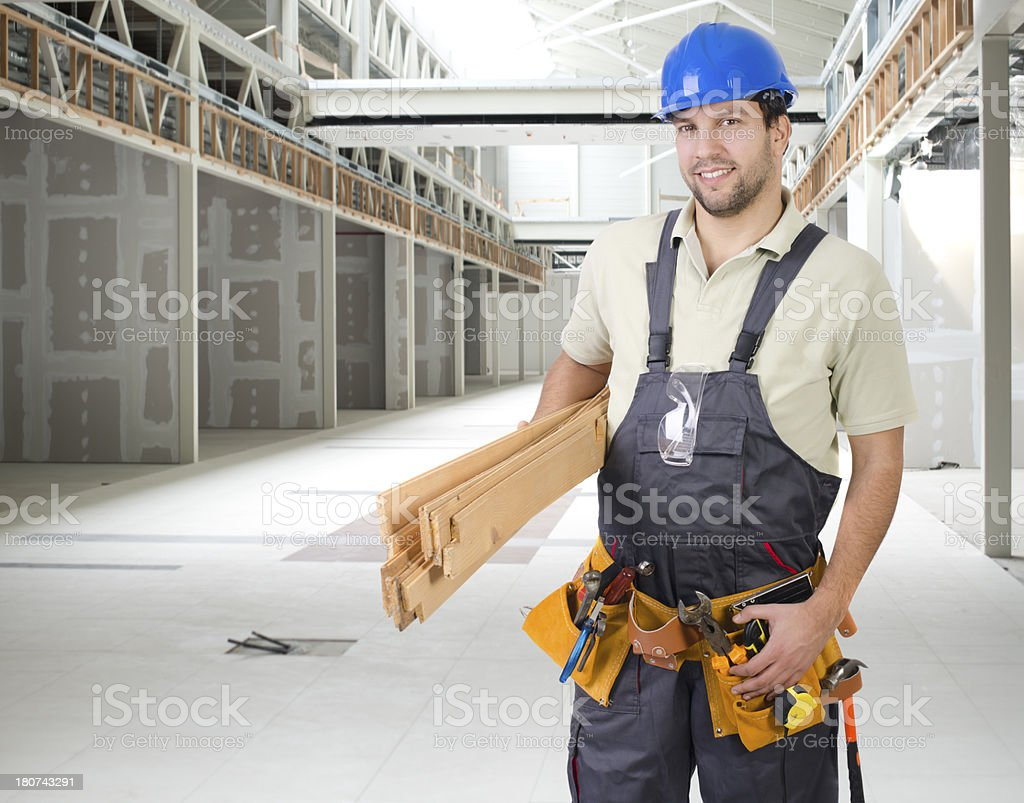 Building contractor on a job royalty-free stock photo