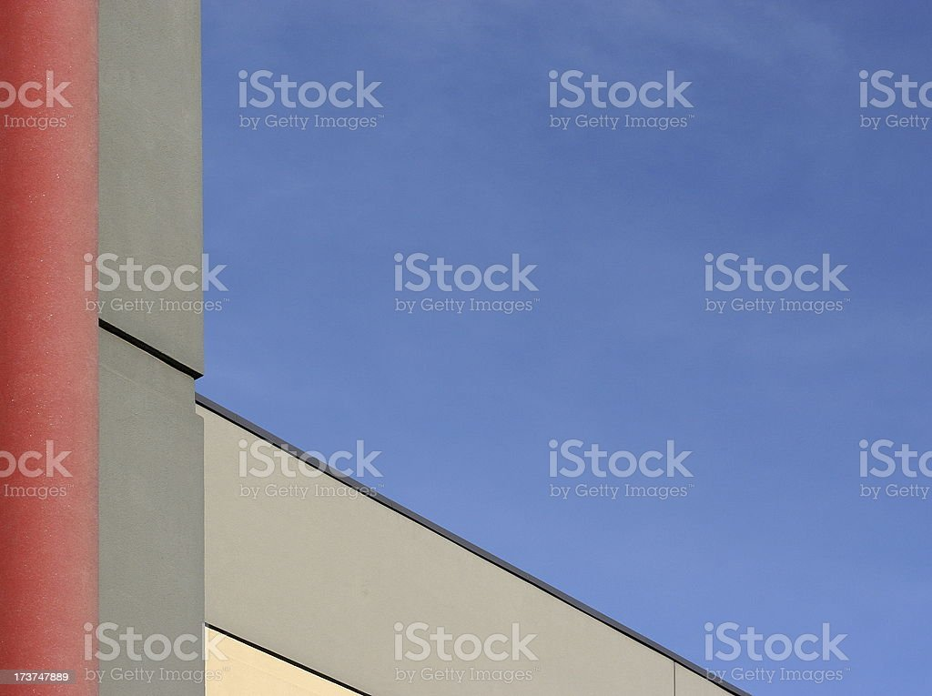 Building Corner and Roof Line stock photo