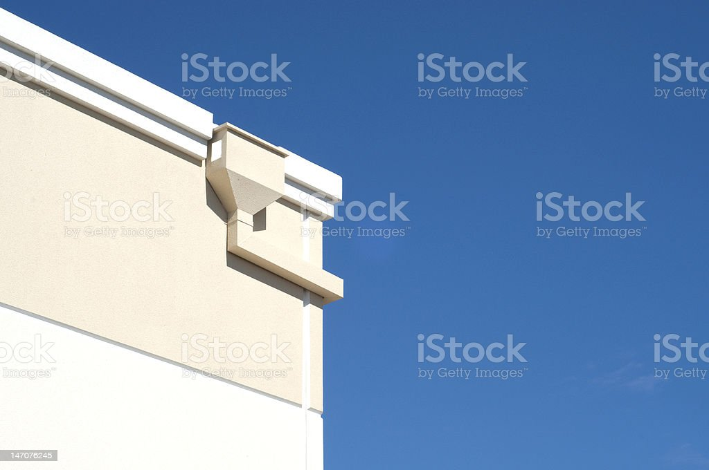 Building Corner with Blue Sky stock photo